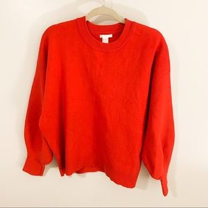 H&M Oversized Soft Red Sweater Crewneck